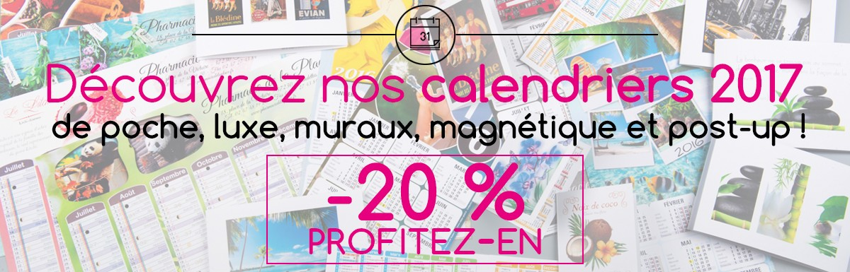 Calendriers 2016 -20%