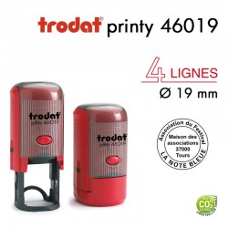TAMPON TEXTE PRINTY 46019 ROND D19MM