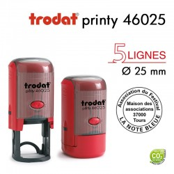 TAMPON TEXTE PRINTY 46025 ROND D25MM