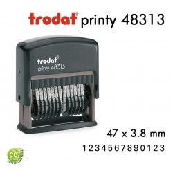 NUMEROTEUR PRINTY 48313 3,8X47MM 13 BANDES
