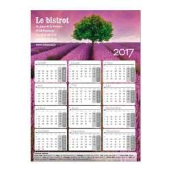 Calendrier magnétique Collection 2017 - 145x205mm - Paysage