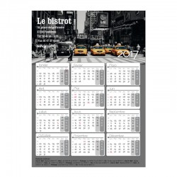 Calendrier magnétique Collection 2015 120x165mm