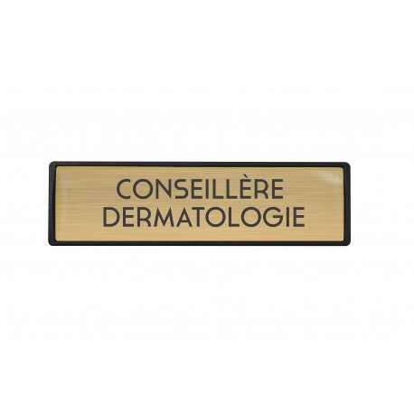Badge luxe Conseillère dermatologie