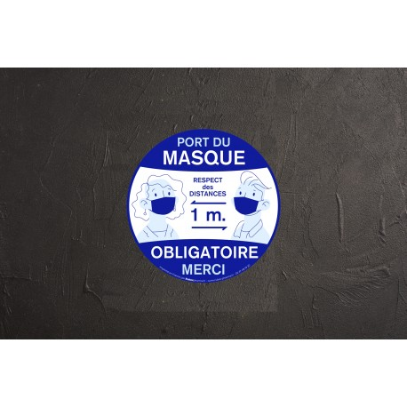 Sticker Port du masque obligatoire - 20cm