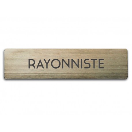 Badge Rayonniste rectangulaire