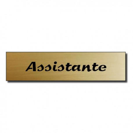 Badge Acrylique doré 60x15mm, Assistante