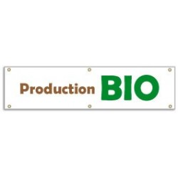 Banderole PRODUCTION BIO (100x25cm)