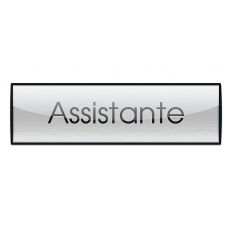 Badge Luxe argenté 72x20mm, Assitante